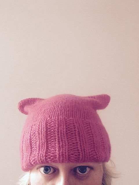 Pussy Hat In The Round (Look Ma, no seams!) by Louise Santa Ana ...