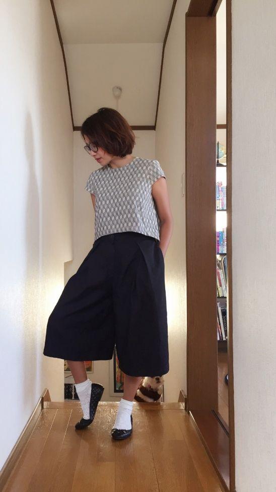 Cropped top and culottes by Novita Estiti
