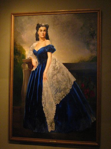 Gone With The Wind Scarlett In The Blue Dress Framed Canvas