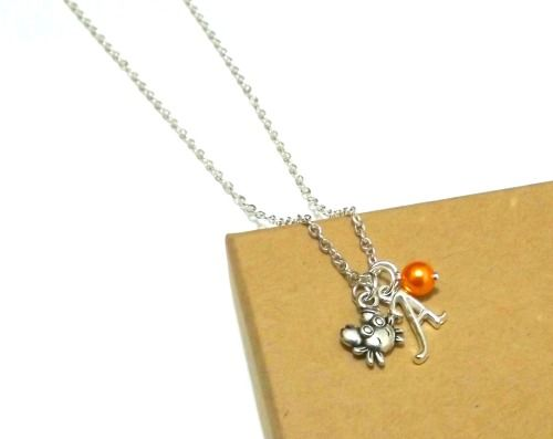 Crab Charm Necklace - Crab Necklace or Crab Bracelet, Crab Jewellery, Crab Charm Necklace, Personalised Crab Initial Bracelet, Sea Jewellery, Ocean Jewellery