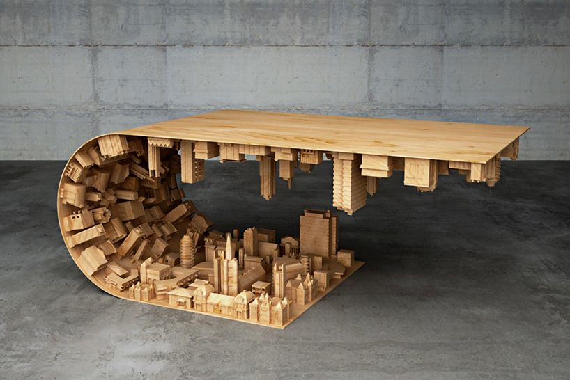 Cyprus Artist Bends Reality With Wave City Coffee Table Wave