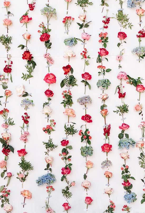 Flowers Wall Decoration Backdrop for Events S-3176