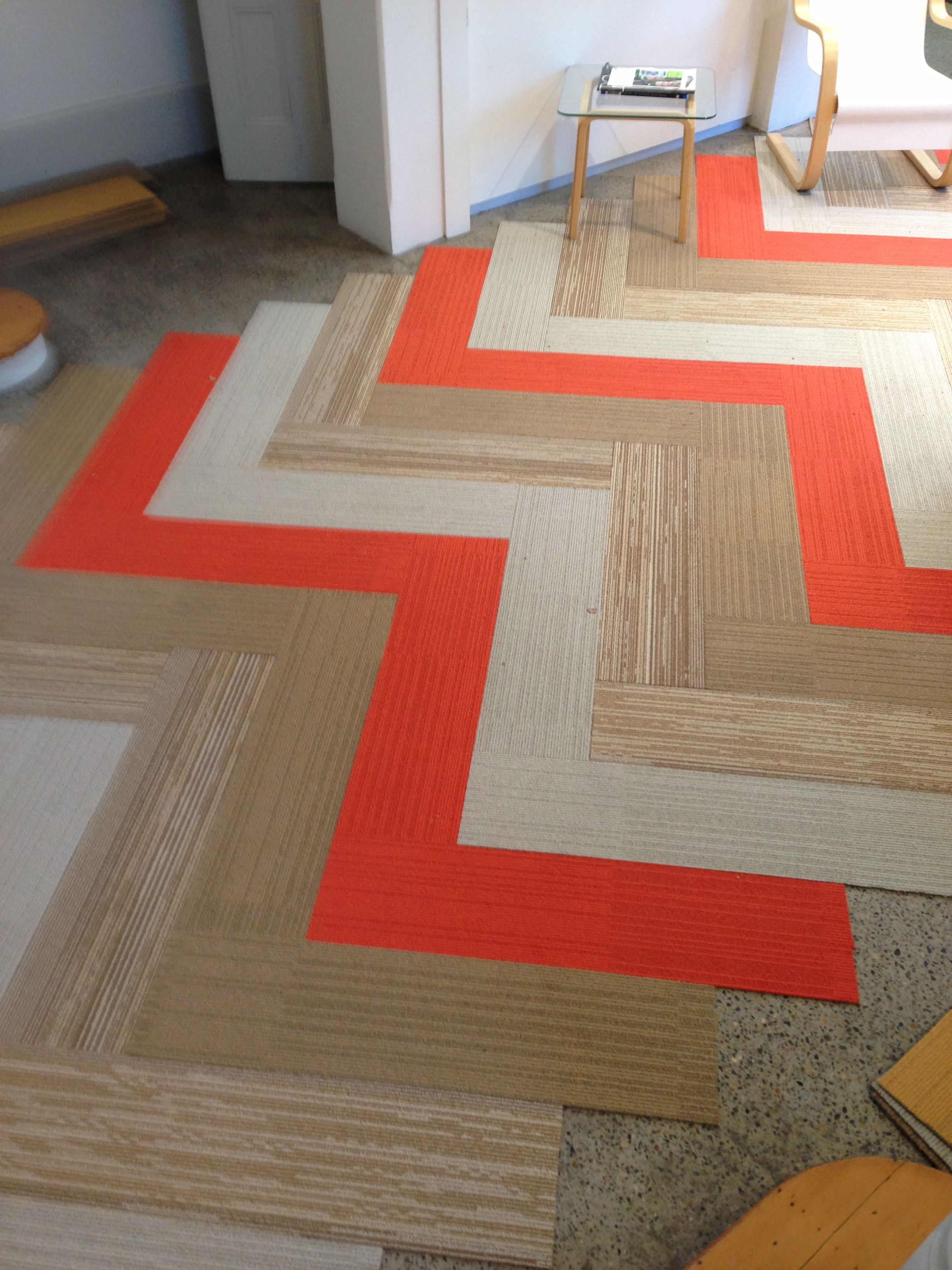 Commercial Carpet Tiles · zig zag just launched new PLANKS sydney showroom, #Planks #colour# Carpet Floor