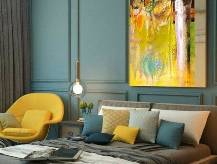 1001 Idees Pour Une Chambre Bleu Canard Petrole Et Paon Sublime Avec Images Chambre Design Deco Salon Salon Bleu