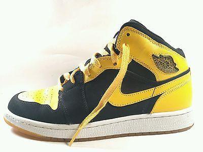 timeless design c4be4 e9d90 Nike Air Jordan Retro 1 Gold Yellow Black size 7Y 307383-071 ...