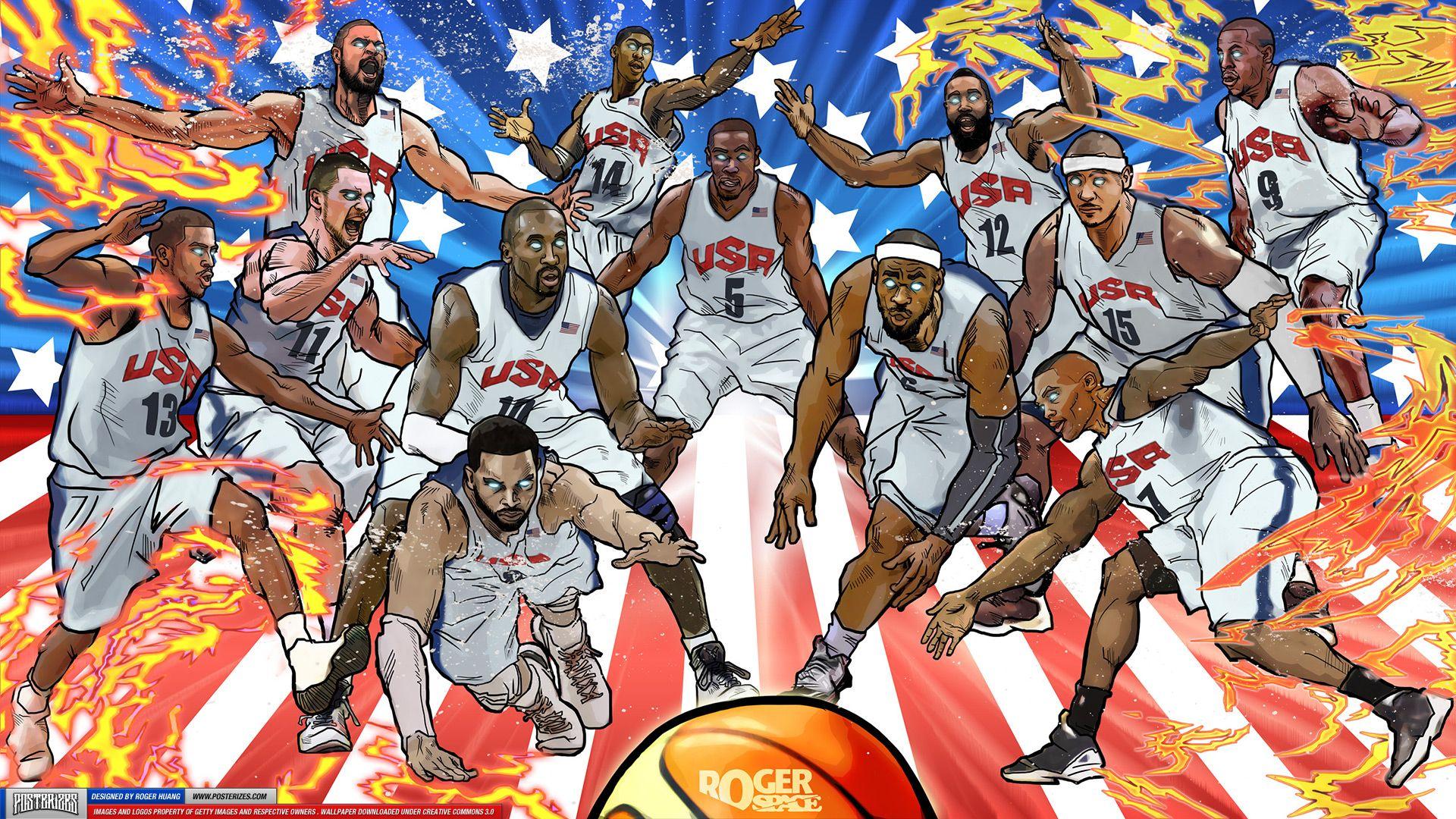 Team Usa 2012 Olympic Wallpaper Nba Wallpapers Team Wallpaper Basketball Wallpaper