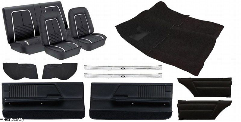 Camaro Interior Kit Coupe Dlx Black 1967 1967 1968 1969 Camaro Parts Nos Rare Reproduction Camaro Parts For Your Re Camaro Interior Camaro Coupe Camaro