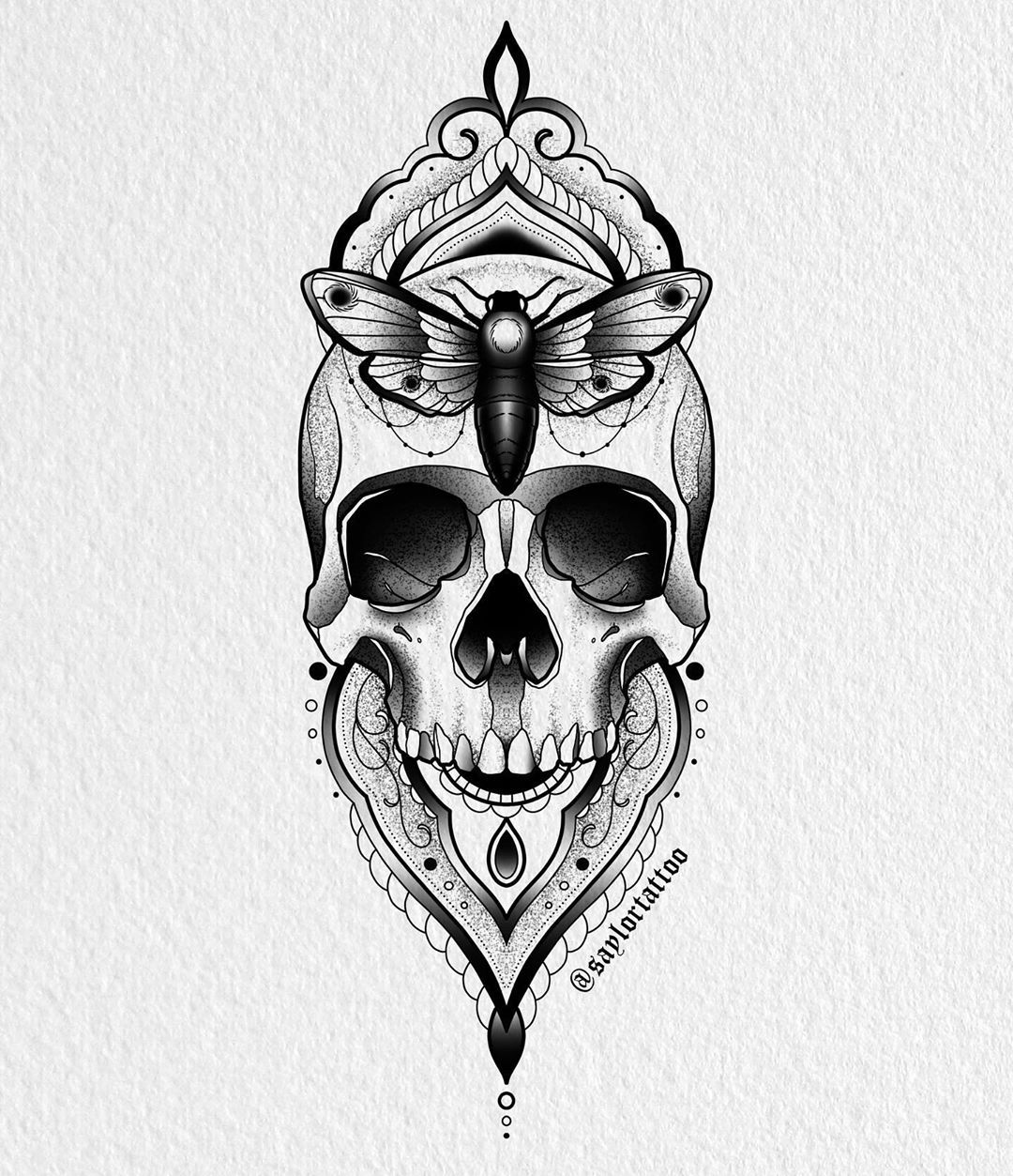 ✨Available. Dm if you'd like to claim this design to be tattooed next month. Deposit required, be PayPal ready.✨ #tattoo #tattooartist #valparaiso #valpo #valpotattoo #tattoodesign #skull #skulltattoo #digitalart #tattoosmart #art #illustration #design #blackwork #blackworkers #darkartists
