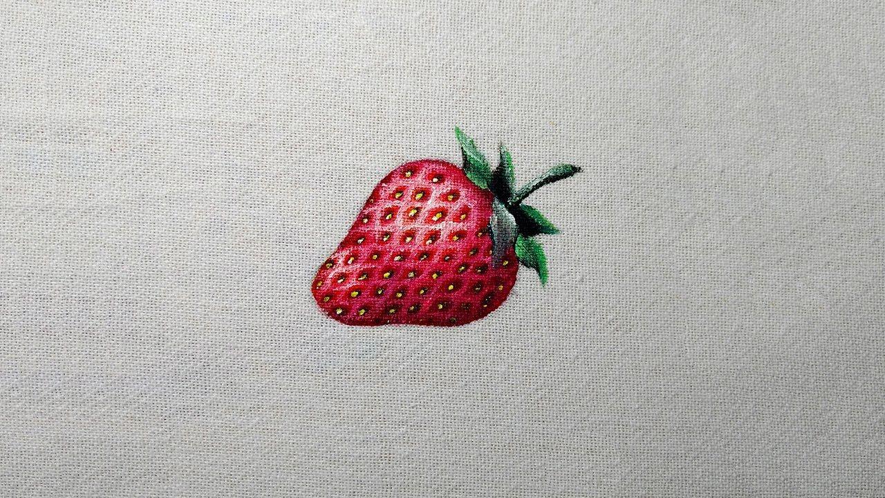 Como Pintar Um Morango Vermelho Fabric Painting Blog Fabric