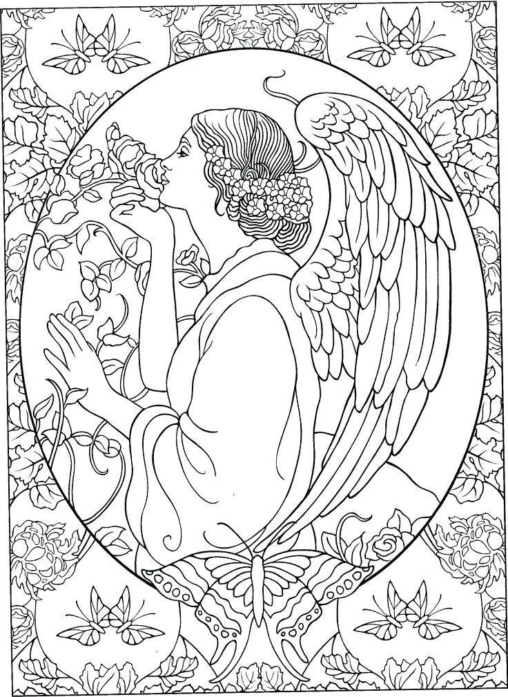 of pages angels coloring Adult