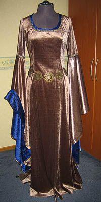Dawndreams The Age Of Fantasy Lotr Fantasy Kostuum Arwen White Dress In Koper Blauw De Jurk Kostuum Modieuze Outfits