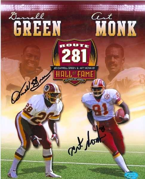 Darrell Green Art Monk Autographed 8x10 Photo Washington 2 Of