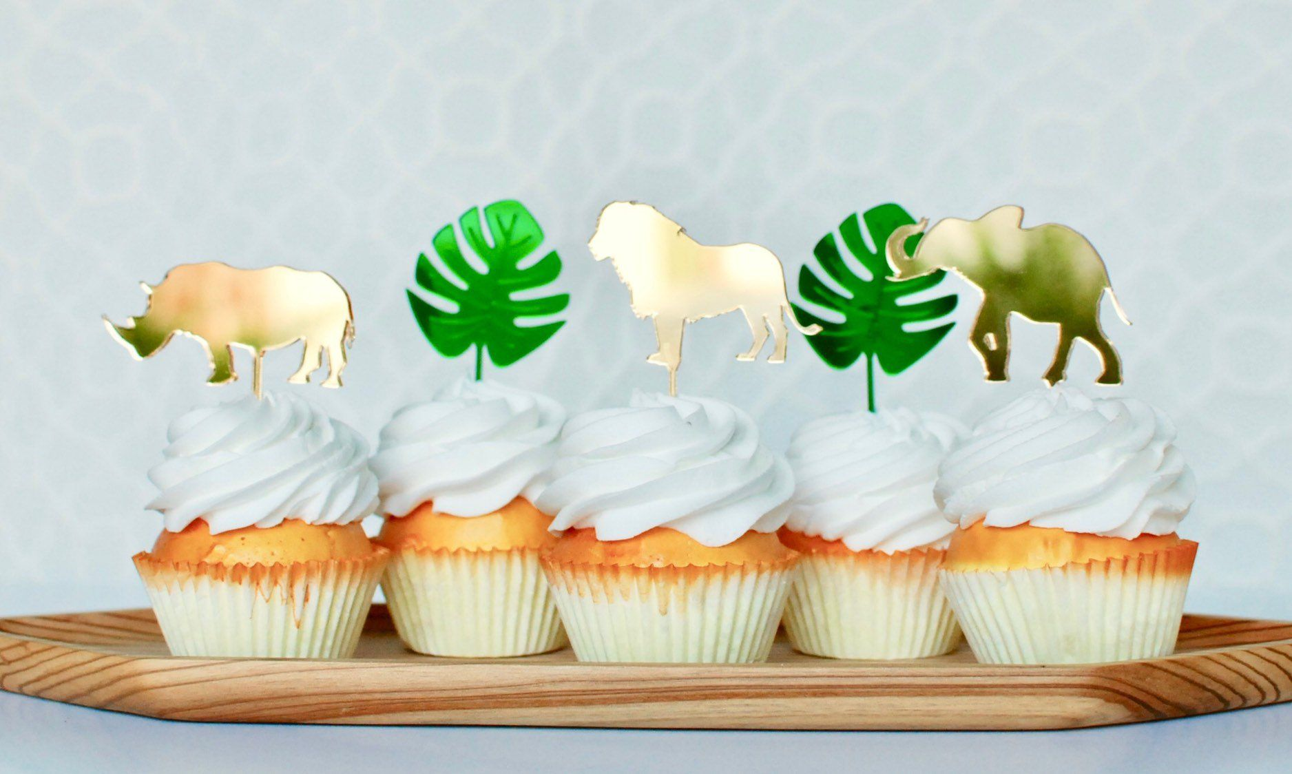 for Jungle Themed Birthday or Baby Shower set of 24 Giraffe Cupcake Toppers