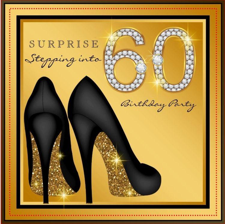 Einladungskarte Zum 60. Geburtstag -ideen-gold-design