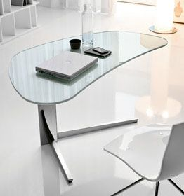 Small And Beautiful A Compact Mobile Kidney Shaped Desk That Should Not Be Hidden Away