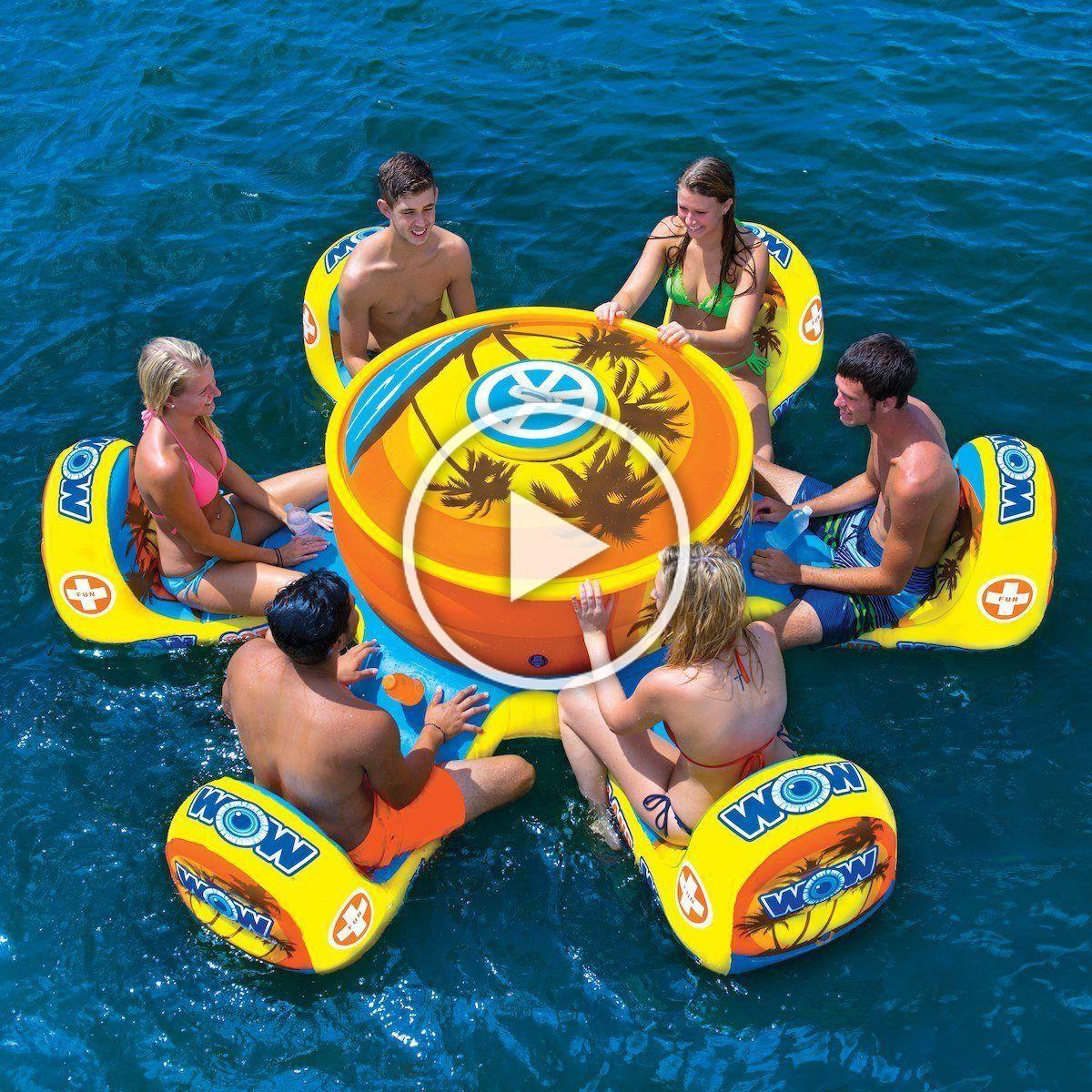 WOW World of Watersports Stadium Islander HUGE Heavy Duty Floating Island with