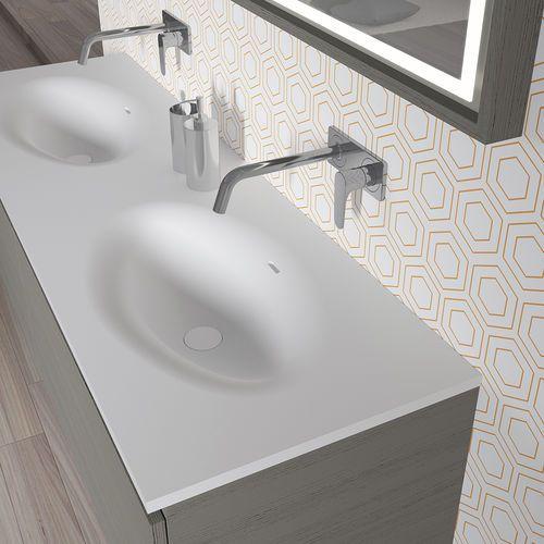 Plan vasque double / en Solid Surface AVIANO RIHO sdb Pinterest - Meuble Vasque A Poser Salle De Bain