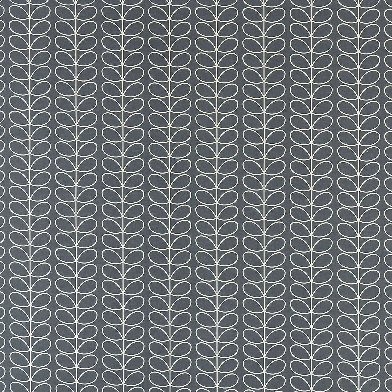 Orla kiely cool grey linear stem fabric pinterest orla kiely
