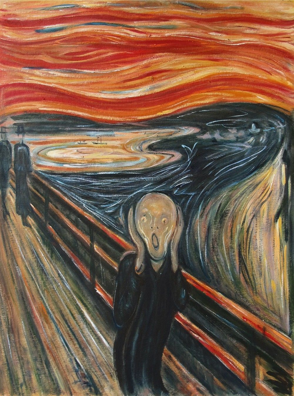 Oil painting (Scream) by Edvard Munch famous oil painting