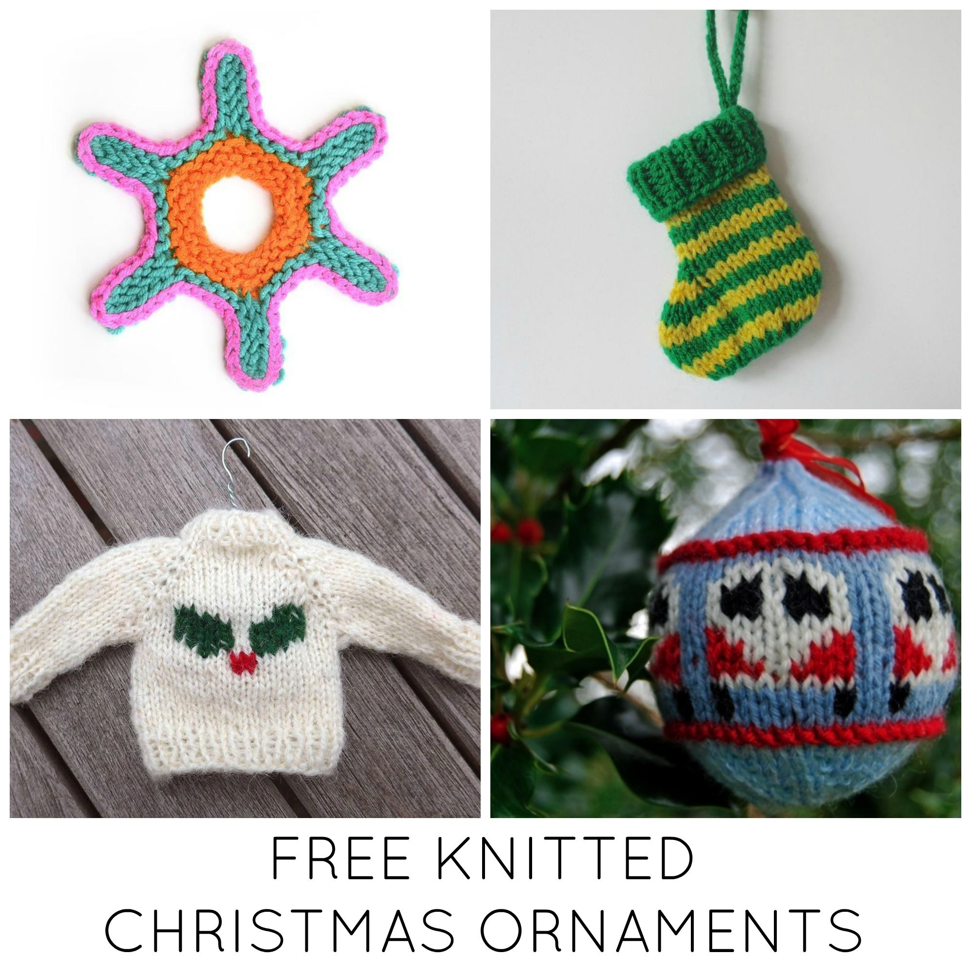 11 festive free knitted christmas ornaments knit christmas 11 festive free knitted christmas ornaments christmas knittingchristmas patternschristmas ideasyarn bankloansurffo Images
