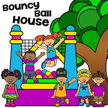 clip art summer bouncy house ball pit party ball pits bouncy rh pinterest ca bounce house clipart free bounce house clip art free