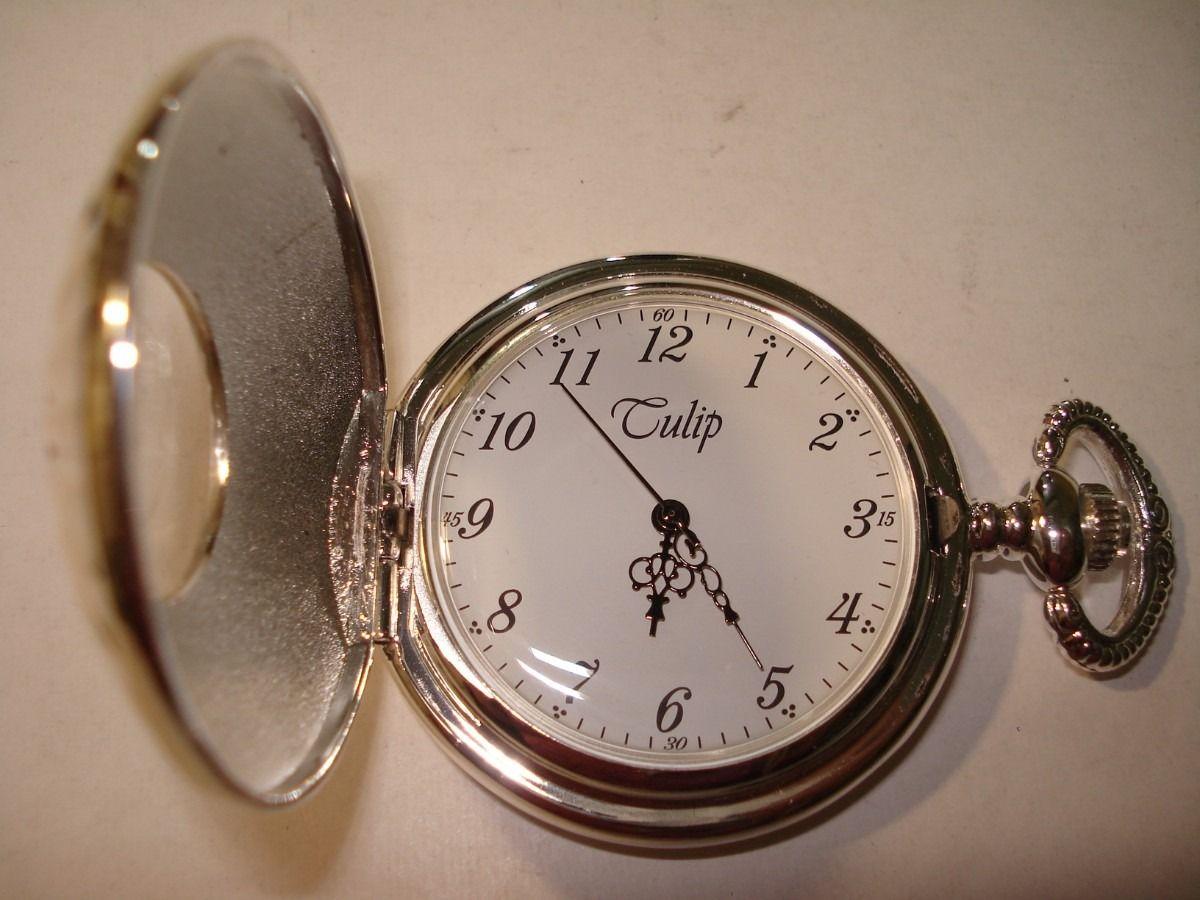 f60ee6b513a Relógio De Bolso Réplica Do Antigo Corda Manual-3 Tampas - R  40