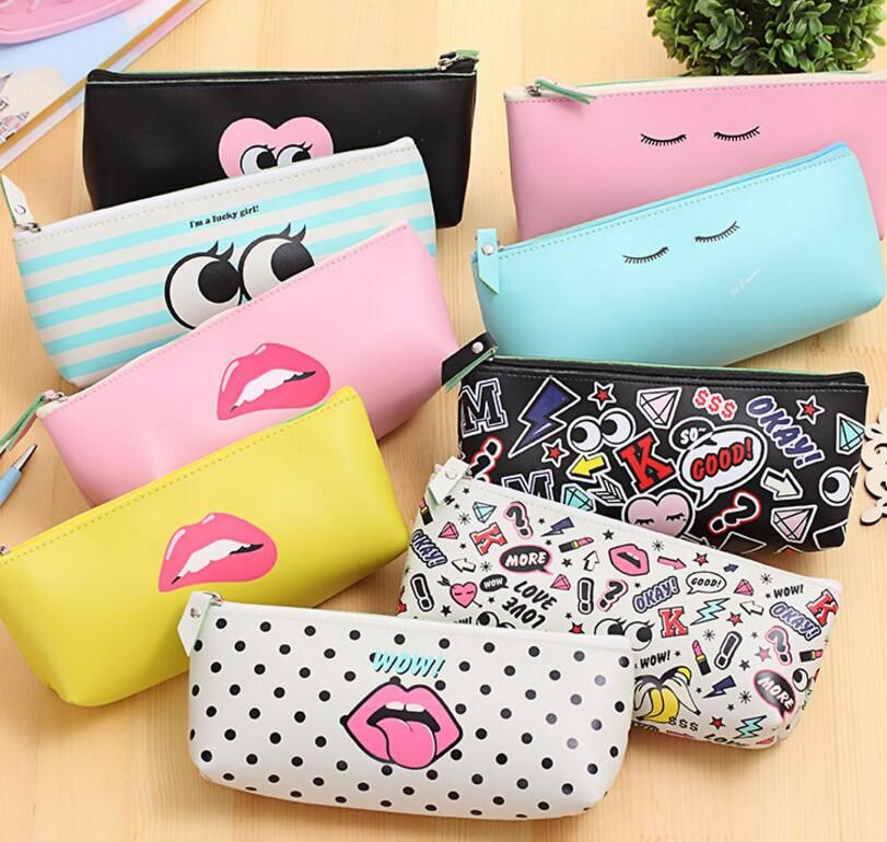 8c2b0cebbc Fashion Cute Pencil Case Bag Pen Case Pouch Student Stationary Office  School Supplies Cosmetic Bag Gift