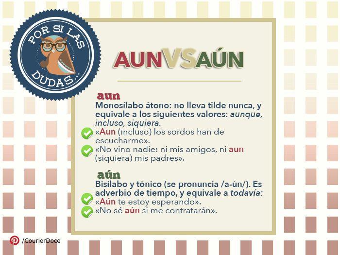 ¿Sabes cuándo acentuar la palabra «aun»?  #Ortografia