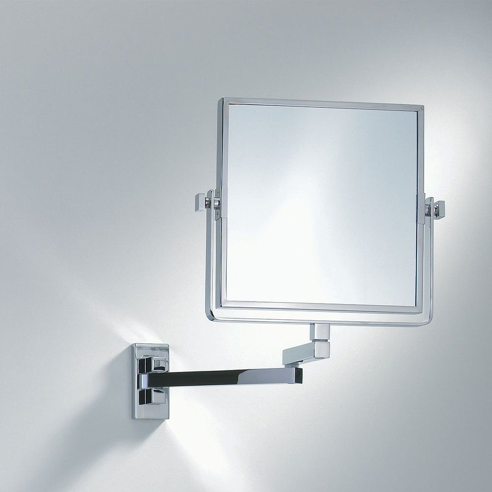 decor walther wall mounted square extendable mirror 10553