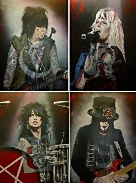 Photo of Mötley Crüe (4 Piece Set) – Even The Angels Cry – SE set of 4 $1,800