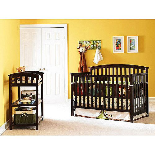 Graco - Freeport 4-in-1 Crib, Changing Table & Mattress , Espresso ...