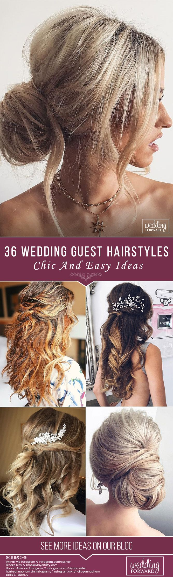 chic and easy wedding guest hairstyles wedding hairstyles
