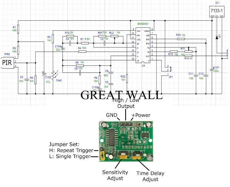 50pcs Hc Sr501 Adjust Ir Pyroelectric Infrared Pir Motion Sensor Detector Module Motion Sensor Sensor Detector