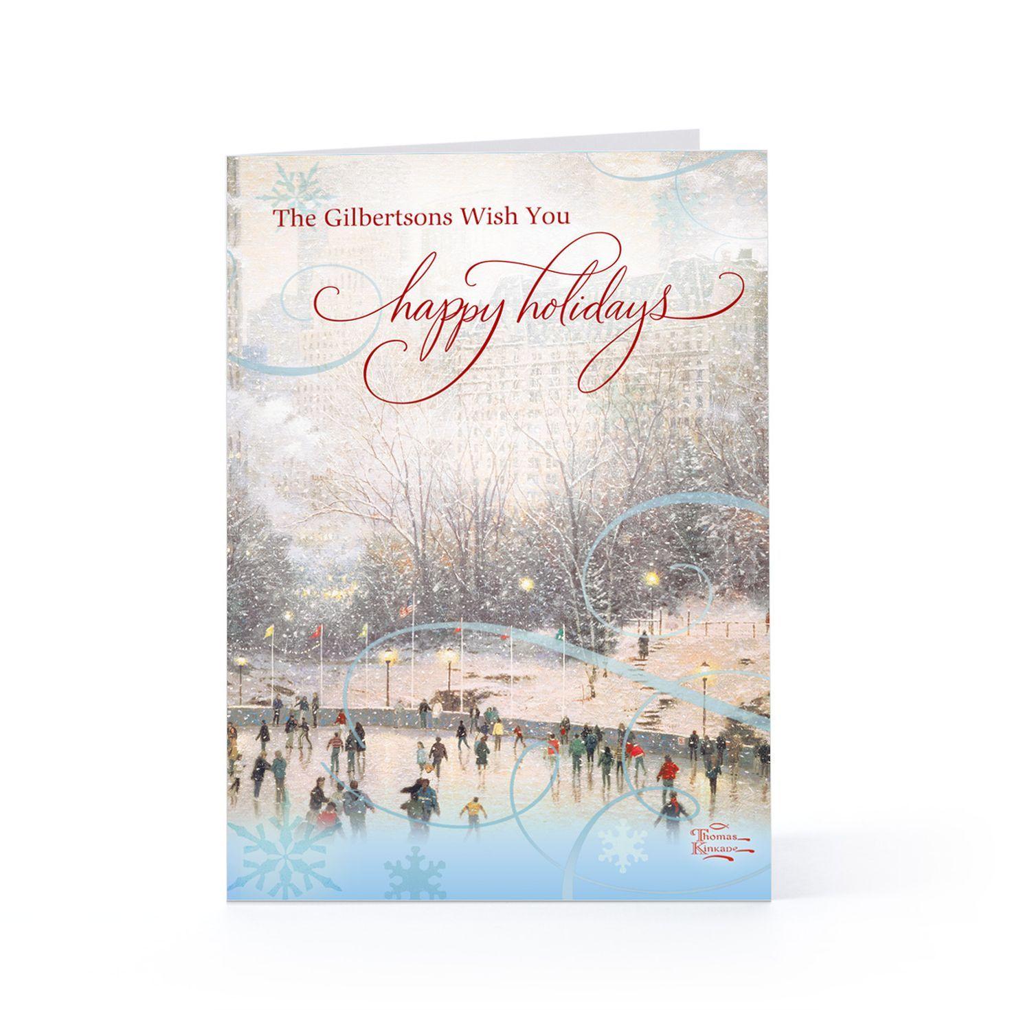 HallmarkS Holiday Greeting Cards With Thomas KinkadeS Artwork