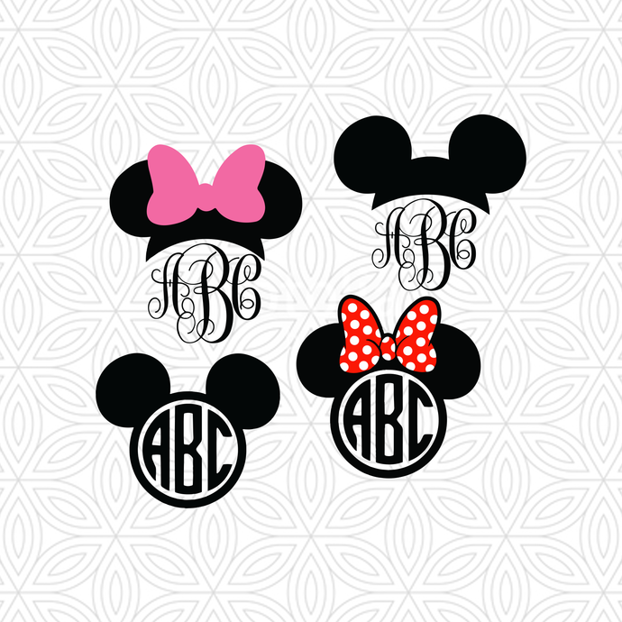 Mickey Mouse Head Svg Mickey Mouse Silhouette Vector Svg And Png Download For Cricut And Silhouette By Disney717 1 99 Aud