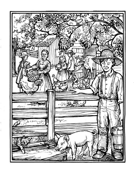 Laura Ingalls Wilder Coloring Book Pages For Boys