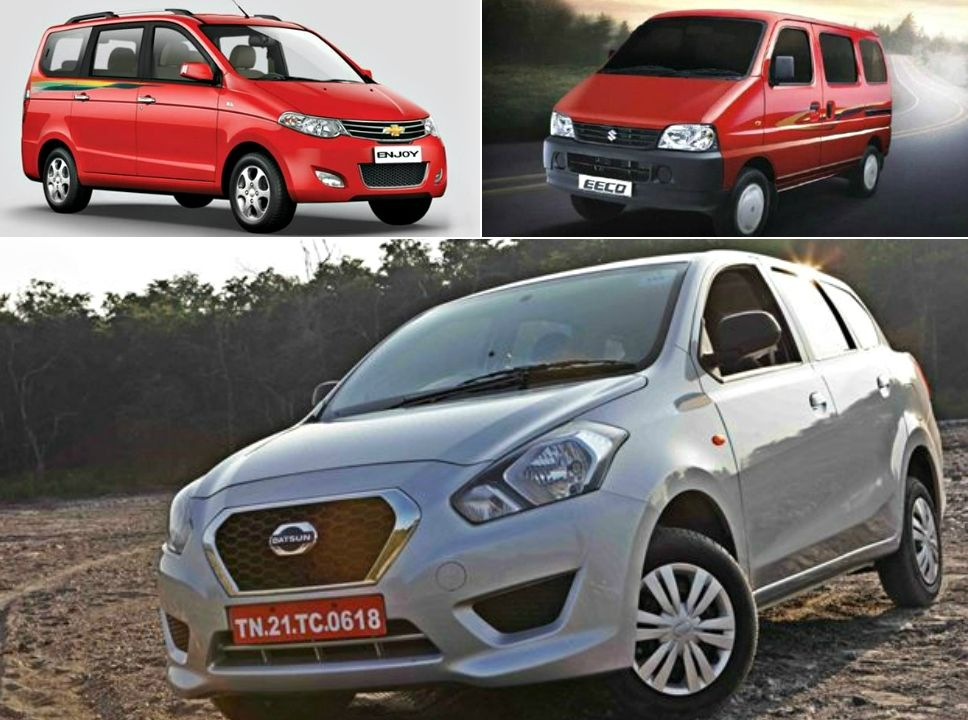 Datsun Go Vs Maruti Eeco Vs Chevrolet Enjoy Comparo Datsun Has