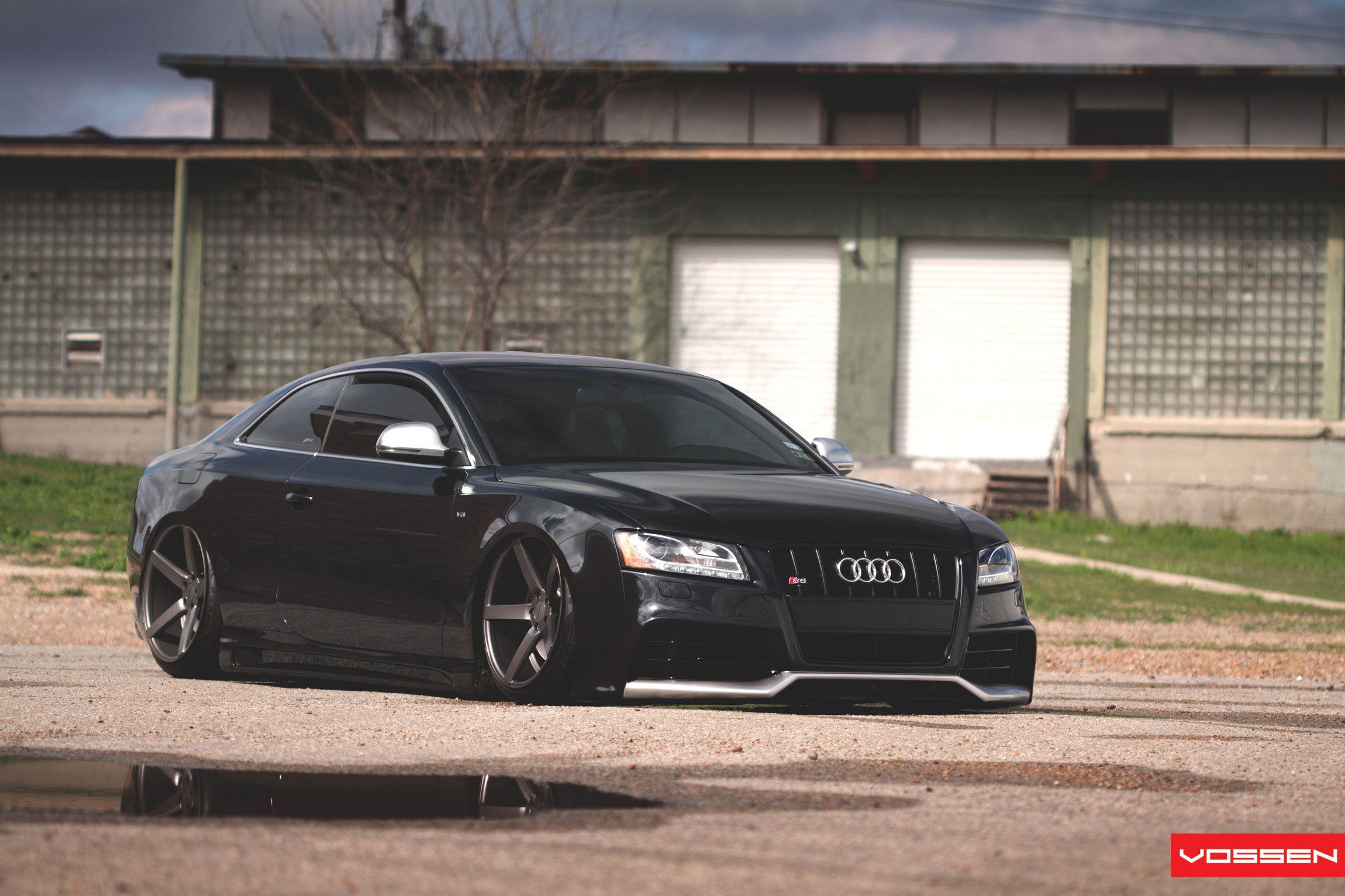Audi q7 suv vossen wheels tuning cars wallpaper - Audi Air Suspension Slammed With Vossen Rims