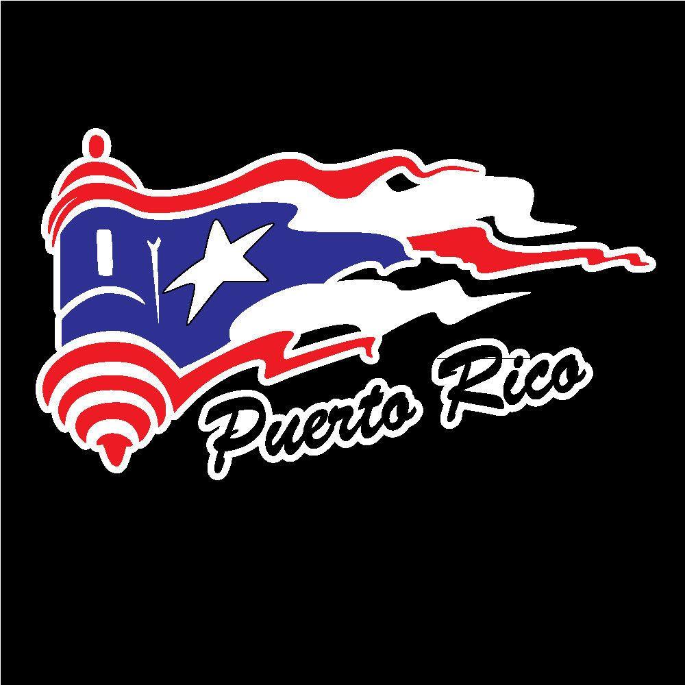 PUERTO RICO SOY BORICUA PUERTO RICAN WAVY FLAG Decal Sticker Easy to Install