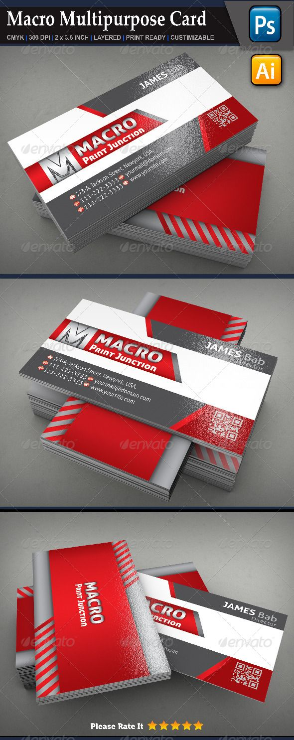 Macro multipurpose card clear company business flyer templates business cards macro multipurpose card reheart Gallery