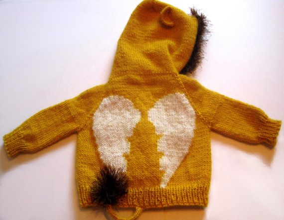 OneofaKind Spinx Baby Sweater unique knit hoodie by MithrilSheep, $120.00