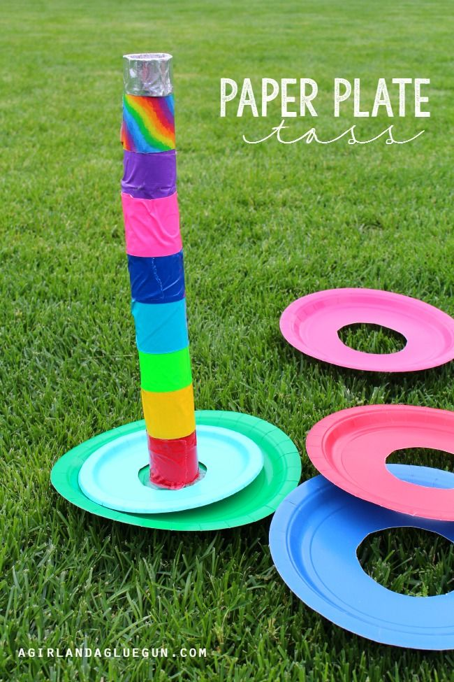 Paper Plate Toss! 5 easy and fun games to play with Paper Plates! Great & 5 fun games to play with paper plates | Gaming Paper plate crafts ...