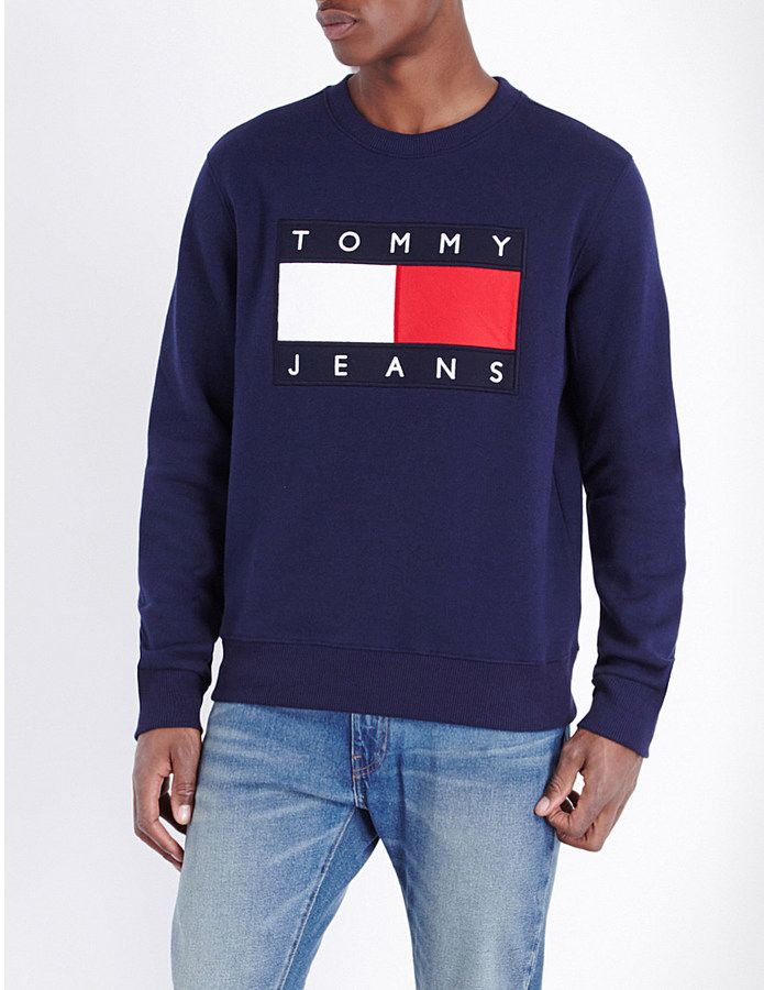 tommy jeans 39 90s jersey sweatshirt my virtual wardrobe pinterest sweatshirt. Black Bedroom Furniture Sets. Home Design Ideas