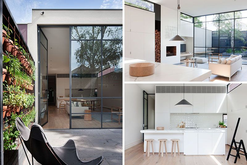 This Australian Victorian Cottage Was Updated With A Contemporary Interior And Courtyard Victorian Cottage Cottage Interiors Modern Renovation