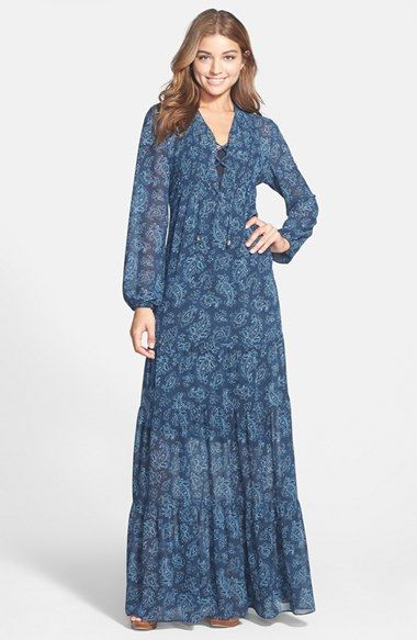 f0df2db2 MICHAEL Michael Kors Lace Up Tiered Maxi Dress available at #Nordstrom