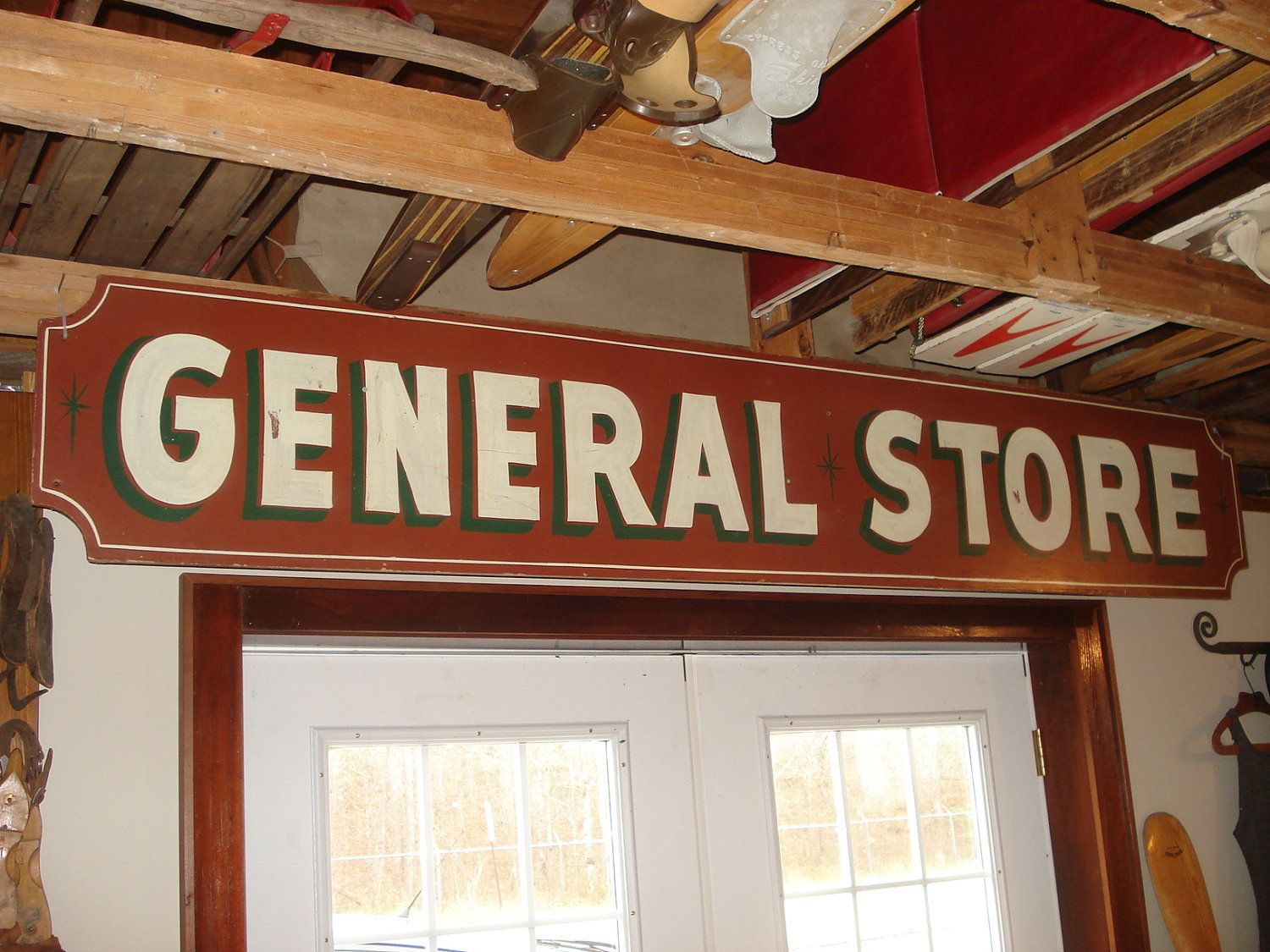 Vintage General Sign Northern Michigan Great Folk Art W