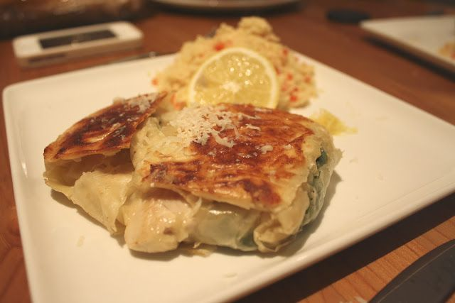Emily Charlotte: Chicken, spinach and parmesan filo pastry parcels with couscous