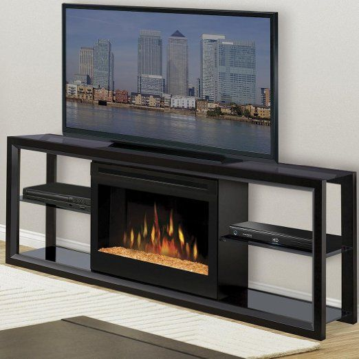 Amazon Com Novara 64 Quot Tv Stand With Electric Fireplace