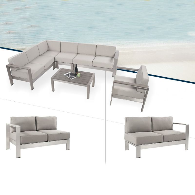 All Weather Modern Cheap Outdoor Lounge Furniture Aluminum Patio