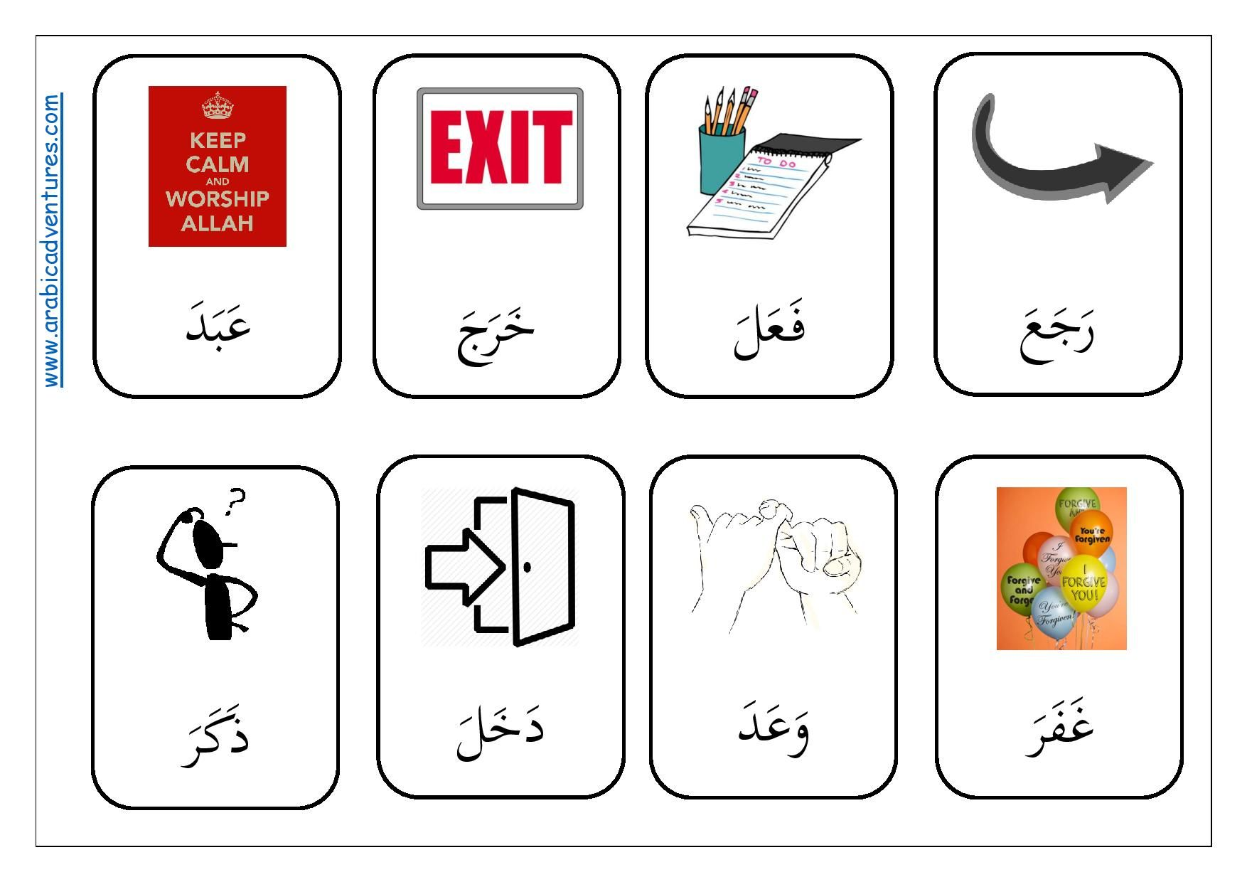 Qur Anic Arabic Verbs Flashcards